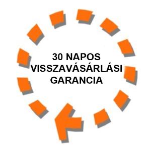 30 NAPOS VISSZAVÁSÁRLÁSI GARANCIA!
